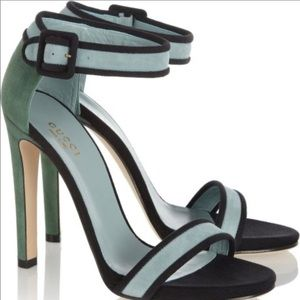 Gucci Color-block suede sandals Size 37